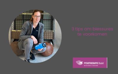 3 tips om blessures te voorkomen
